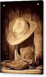 Rough Rider Acrylic Print by American West Legend By Olivier Le Queinec