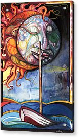 Rough Sea Acrylic Print by Anthony Burks Sr