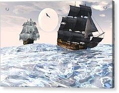 Rough Seas Acrylic Print by Claude McCoy