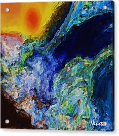 Rough Seas Acrylic Print by Andrea N Hernandez