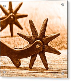 Rough Spurs - Sepia Acrylic Print by Olivier Le Queinec