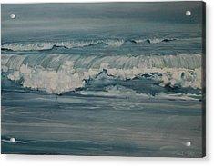 Rough Surf Acrylic Print by Amy Bernays