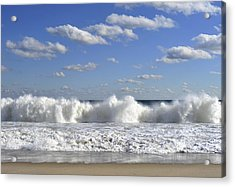 Rough Surf Jersey Shore  Acrylic Print