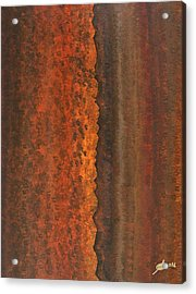 Rough Timber Original Painting Acrylic Print by Sol Luckman