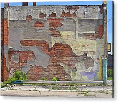 Rough Wall Acrylic Print by David Kyte