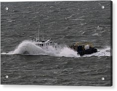 Rough Water Acrylic Print by Bill Perry