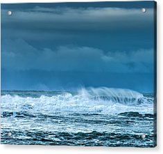 Rough Waters Off Iceland Acrylic Print