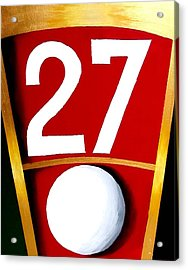 Roulette 27 Red  Acrylic Print by Teo Alfonso