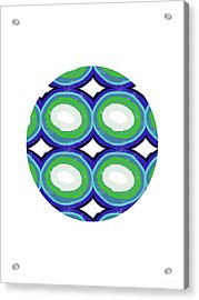 Round And Round Ball- Art By Linda Woods Acrylic Print