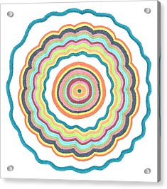 Acrylic Print featuring the drawing Round And Round by Jill Lenzmeier