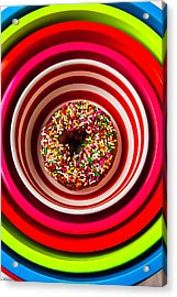 Round Bowl With Donut Acrylic Print by Garry Gay
