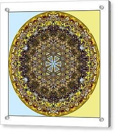 Round Geometric Design Acrylic Print by Susan Leggett