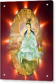 Acrylic Print featuring the photograph Round Halo Kuan Yin by Lanjee Chee