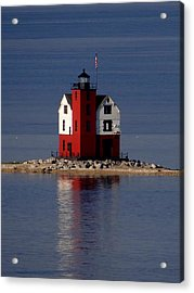 Round Island Lighthouse In The Morning Acrylic Print
