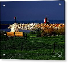 Round Island Lighthouse Mackinac Island Michigan Acrylic Print