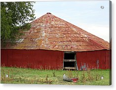 Acrylic Print featuring the photograph Round Red Barn by Sheila Brown