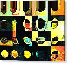 Round Series 50 Acrylic Print by Teodoro De La Santa