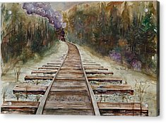 'round The Bend Acrylic Print by Renee Chastant