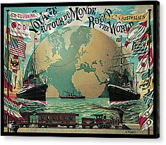 Round The World Voyage Acrylic Print by A Schindeler