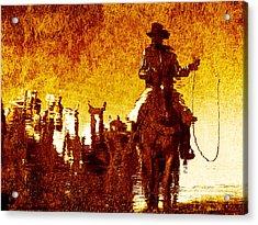 Round Up Reflection Acrylic Print by Nick Sokoloff