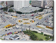 Roundabout In Warsaw Acrylic Print by Chevy Fleet