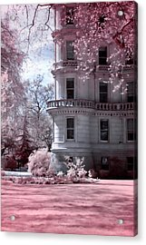 Rounded Corner Tower Acrylic Print by Helga Novelli