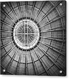 Roundhouse Architecture - Black And White Acrylic Print