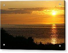 Rounding Block Island At Sunrise Acrylic Print