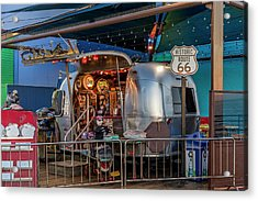 Route 66 And Airstream On Tha Pier Acrylic Print