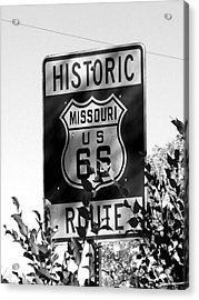 Route 66 Acrylic Print by Audrey Venute