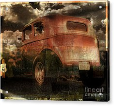 Route 66 Acrylic Print by Mindy Sommers