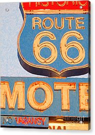 Route 66 Motel Seligman Arizona Acrylic Print by Wingsdomain Art and Photography