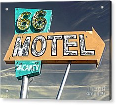 Route 66 Motel Sign Acrylic Print by Gregory Dyer
