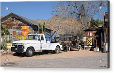 Route 66 Old Shell Service Station Acrylic Print