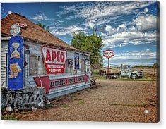 Route 66 Towing Acrylic Print by Diana Powell