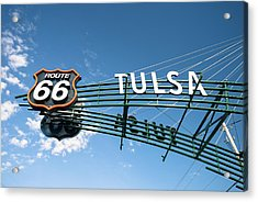 Acrylic Print featuring the photograph Route 66 Tulsa Vintage Street Art  by Gregory Ballos