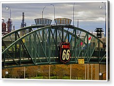 Route 66 Tulsa Sign - Hdr Acrylic Print by Tony Grider