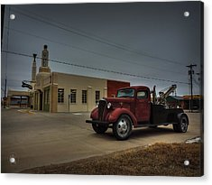 Route 66 - U-drop Inn 001 Acrylic Print by Lance Vaughn