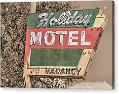 Acrylic Print featuring the photograph Route 66 Vintage Americana Holiday Motel by JC Findley