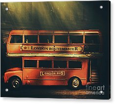 Routemaster Bus Station Acrylic Print