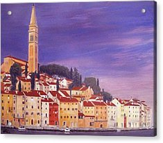 Rovinj Acrylic Print by Anthony Meton