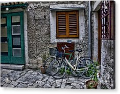 Rovinj Bicycles Acrylic Print