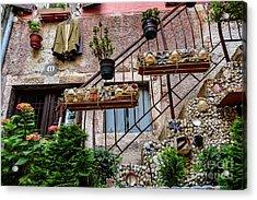Rovinj Old Town Courtyard, Rovinj Croatia Acrylic Print