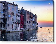 Rovinj Old Town On The Adriatic At Sunset Acrylic Print