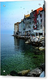 Rovinj Venetian Buildings And Adriatic Sea, Istria, Croatia Acrylic Print