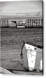 Row Boat And Cribstone Bridge Acrylic Print