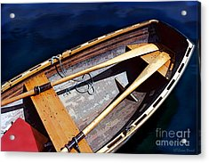 Acrylic Print featuring the photograph Row Boat Red Rillow by Susan Parish