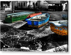Row Boats At Mudeford Acrylic Print