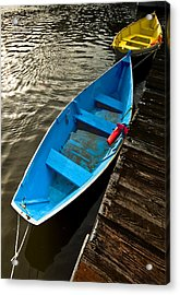 Row Boats Acrylic Print by Dale Stillman