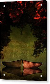 Row Boats Acrylic Print by Jan Keteleer